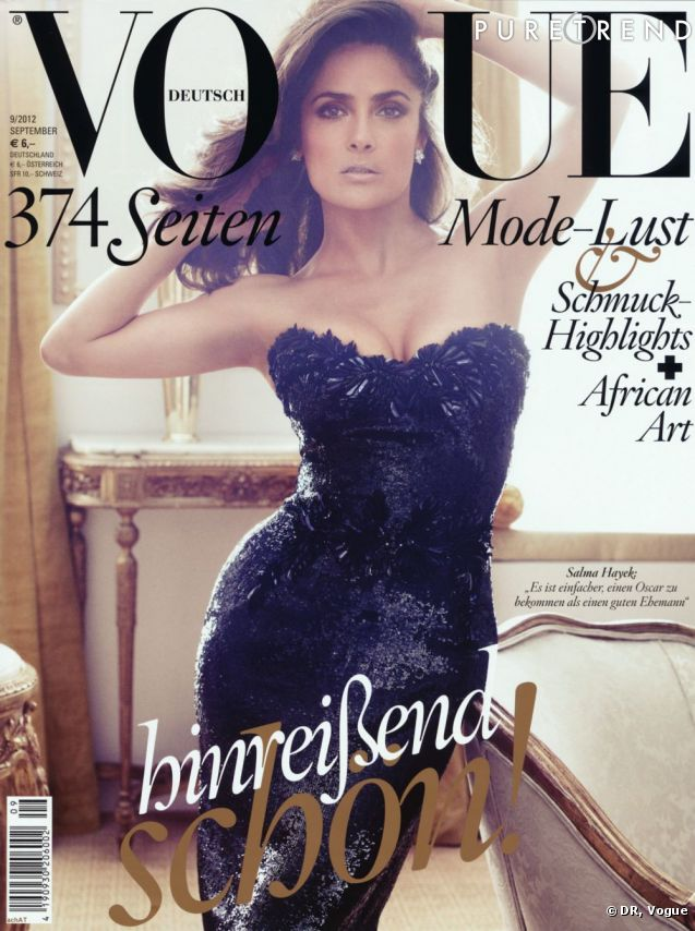 Salma Hayek, sexy pour Vogue.