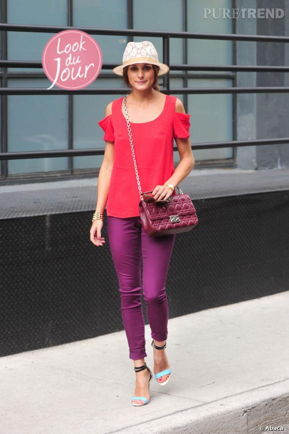 Olivia Palermo dans les rues de SoHo à New York.