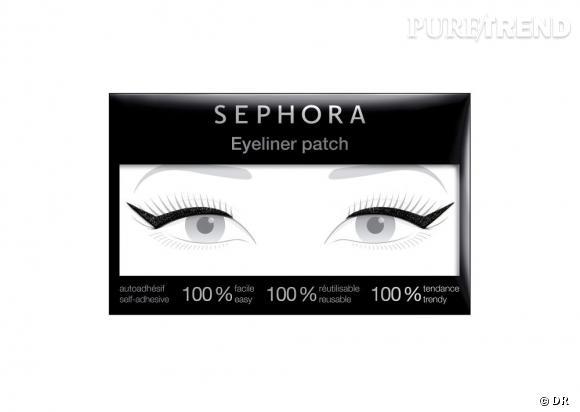 L'Eyeliner patch de Sephora : Après les faux-cils, on s'essaye à l'eyeliner autocollant. Facile à poser, il souligne le regard pour copier le make-up des défilés. Eyeliner patch de Sephora, 9,90€