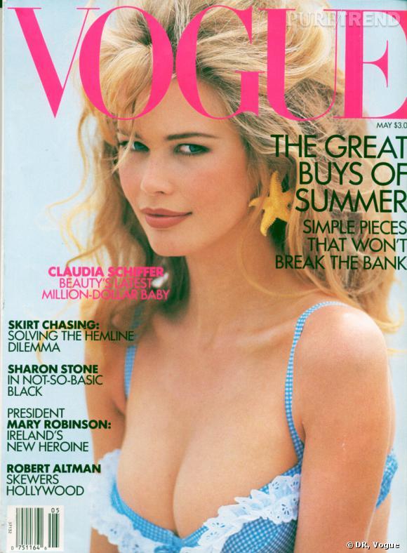 Le top :  Claudia Schiffer.     Nombre de couvertures :  16.