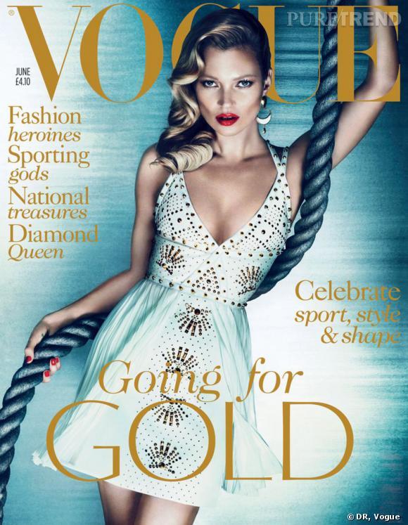 Le top :  Kate Moss.     Nombre de couvertures :  8.