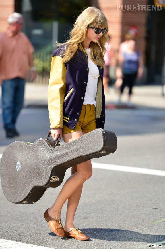 Taylor Swift dans les rues de New York.