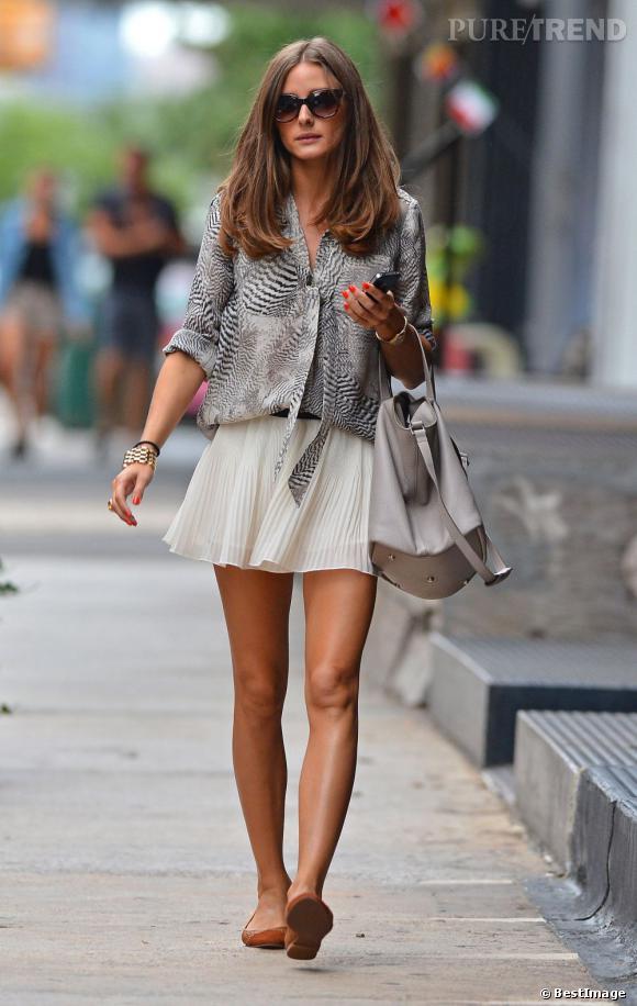 Olivia Palermo, sexy et chic dans les rues de New York.