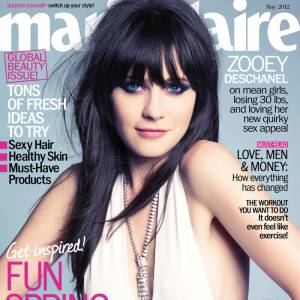 Version photoshop : Zooey Deschanel, des bras et un buste tous fins.
