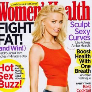 Version photoshop : Amber Heard, bien que mince détient normalement de jolies formes. Ici, elles ont disparues.