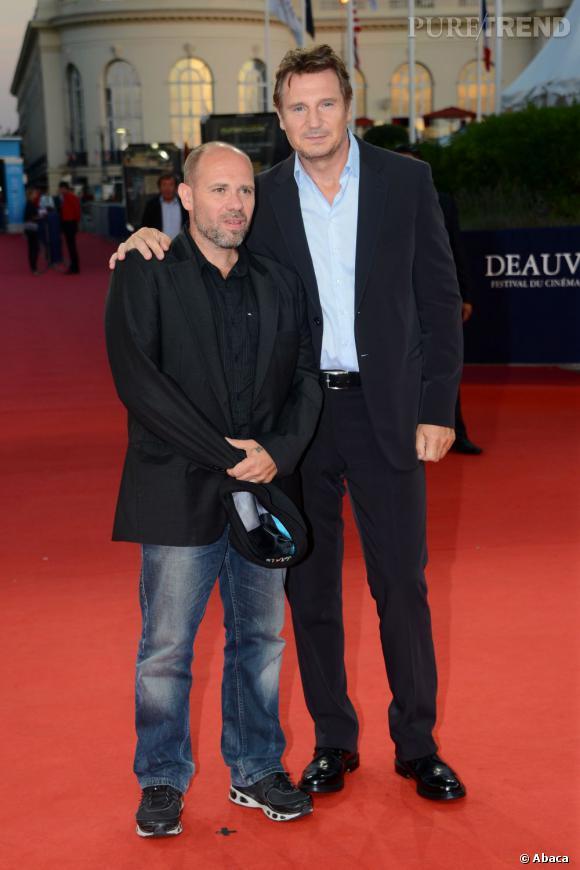 """Liam Neeson et Olivier Megaton, le réalisateur de """"Taken 2""""."""