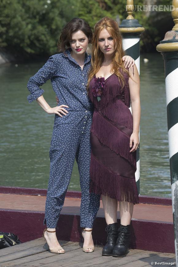 Roxane Mesquida et Joséphine de la Baume à Venise.