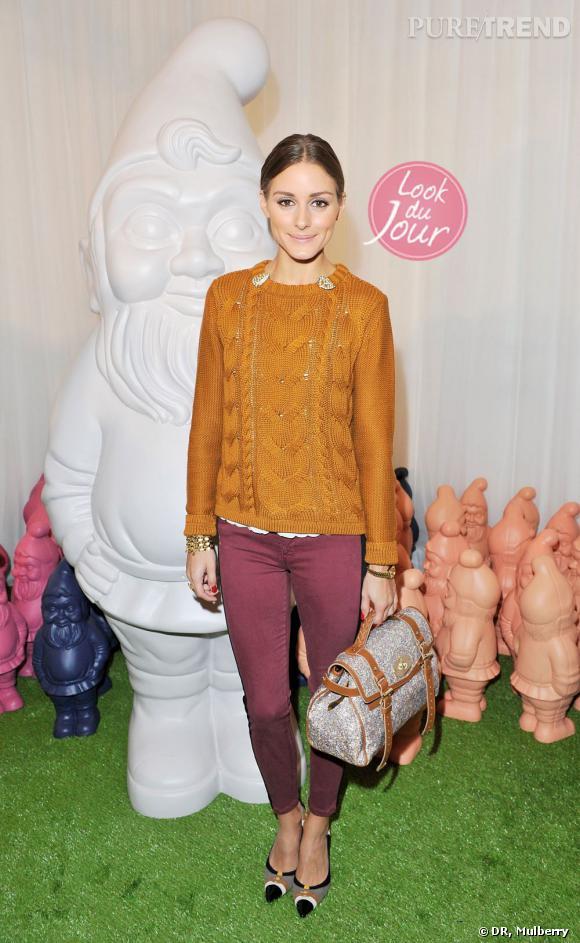 Olivia Palermo au défilé Mulberry de la Fashion Week de Londres le 18 septembre dernier.