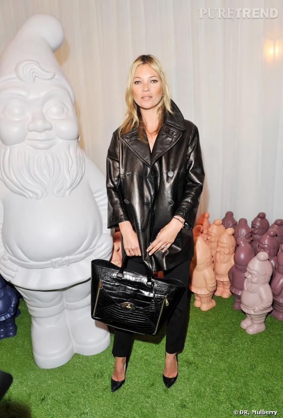 Kate Moss au défilé Mulberry de Londres le 18 septembre dernier.