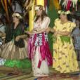 Kate Middleton et s'autorise quelques pas de la danse traditionnelle.