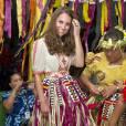 Kate Middleton revêt le costume traditionnel de Tuvalu le 18 septembre dernier.