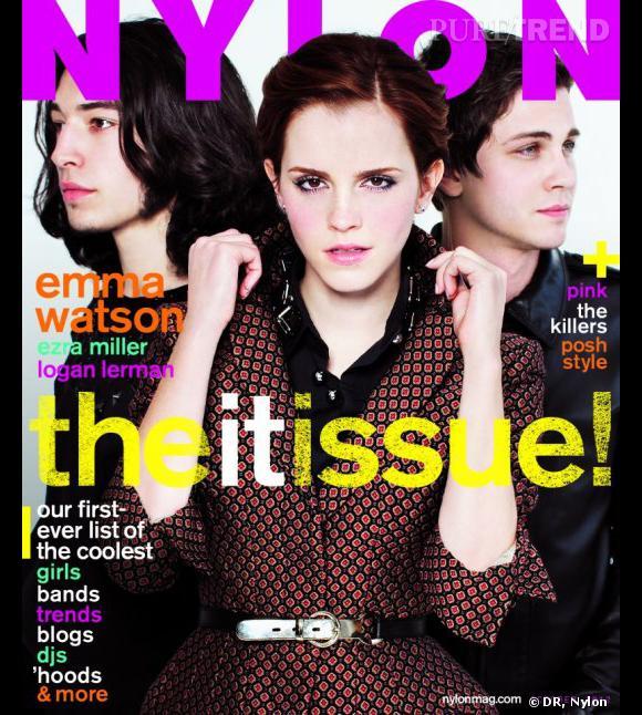 Emma Watson, Ezra Miller et Logan Lerman pour Nylon.