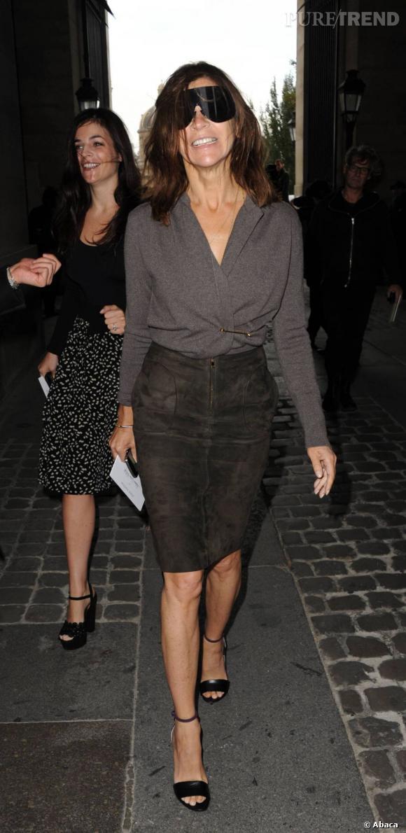 Carine Roitfeld au défilé Louis Vuitton.
