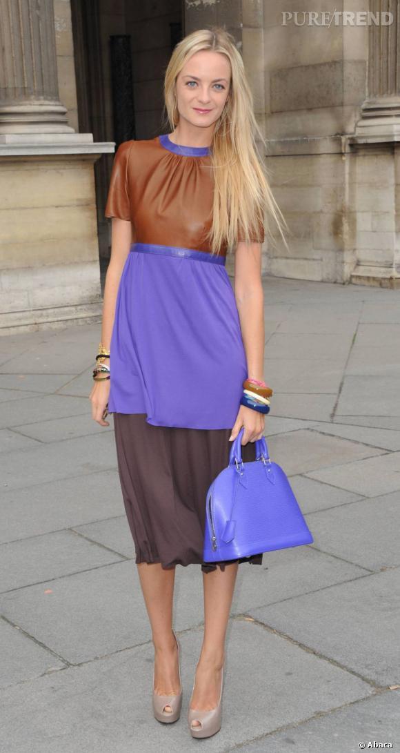Claire Courtin Clarins estivale chez Louis Vuitton.