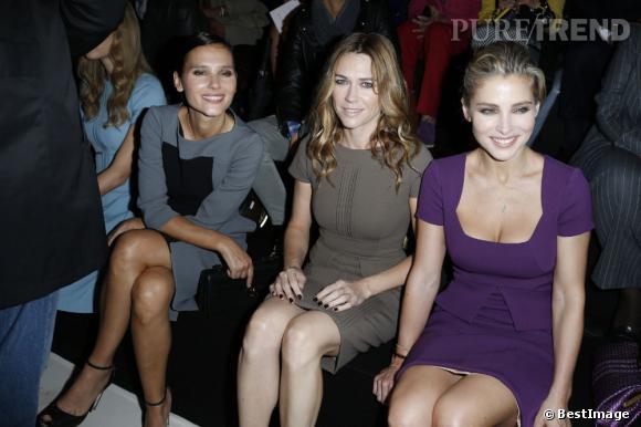 Virginie Ledoyen aux côtés de Marie-Josee Croze et Elsa Pataky chez Elie Saab.