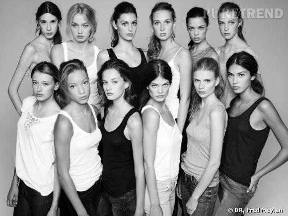 Les 12 finalistes du concours Elite Model Look France.