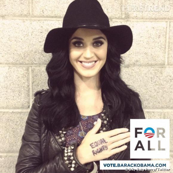 Katy Perry a chanté pour soutenir Obama.