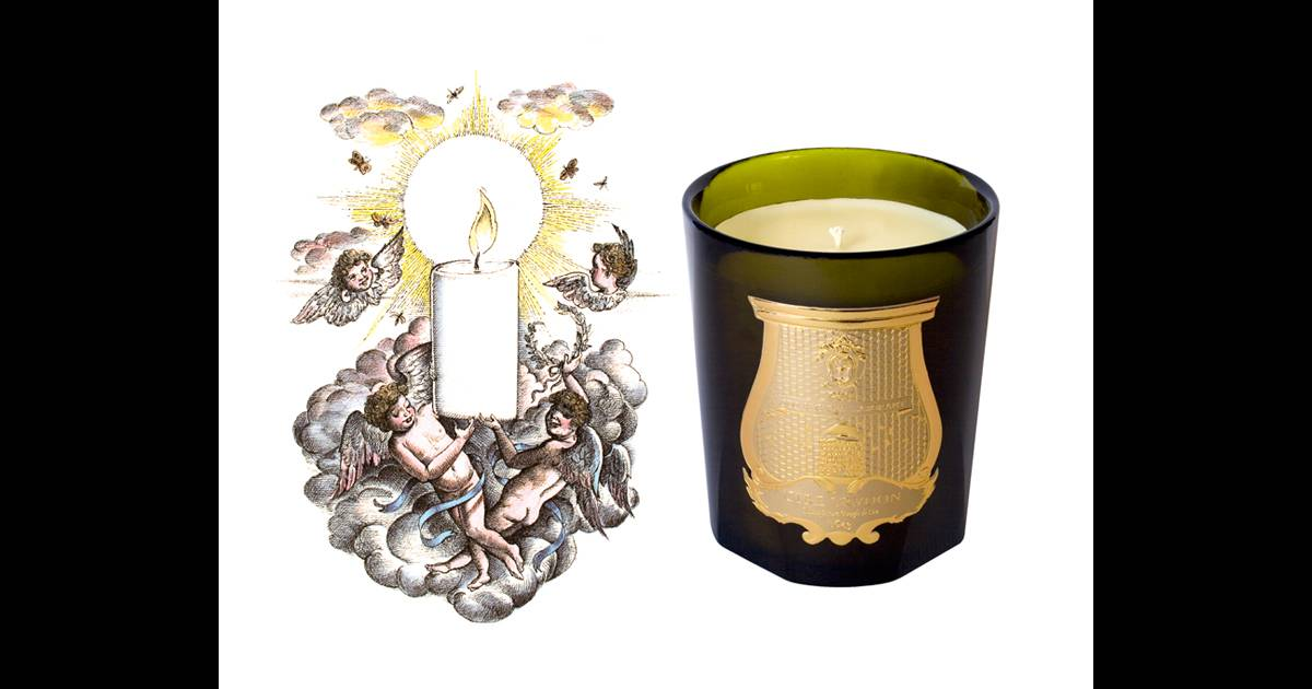 la bougie parfum e un objet mode bougie spiritus sancti cire trudon illustration par lawrence. Black Bedroom Furniture Sets. Home Design Ideas
