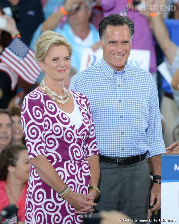 Ann Romney et Mitt Romney en Floride le 7 octobre dernier.