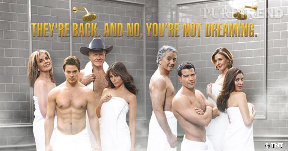 """Encore une fois, pourquoi essayer de faire un remake, surtout celui de la série culte """"Dallas"""" ? On remarque que pour attirer les spectateurs, les studios sont obligés de faire une affiche promotionnelle très hot."""