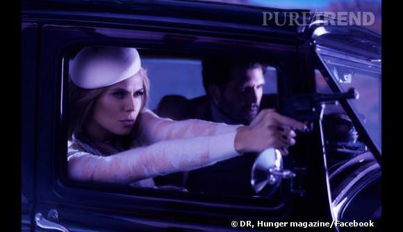 Heidi Klum se prend pour Bonnie Parker pour Hunger Tv.