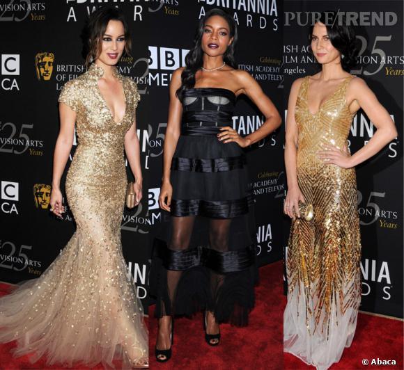 Bérénice Marlohe et Olivia Munn, deux Golden Girls entourent la sublime Naomie Harris.