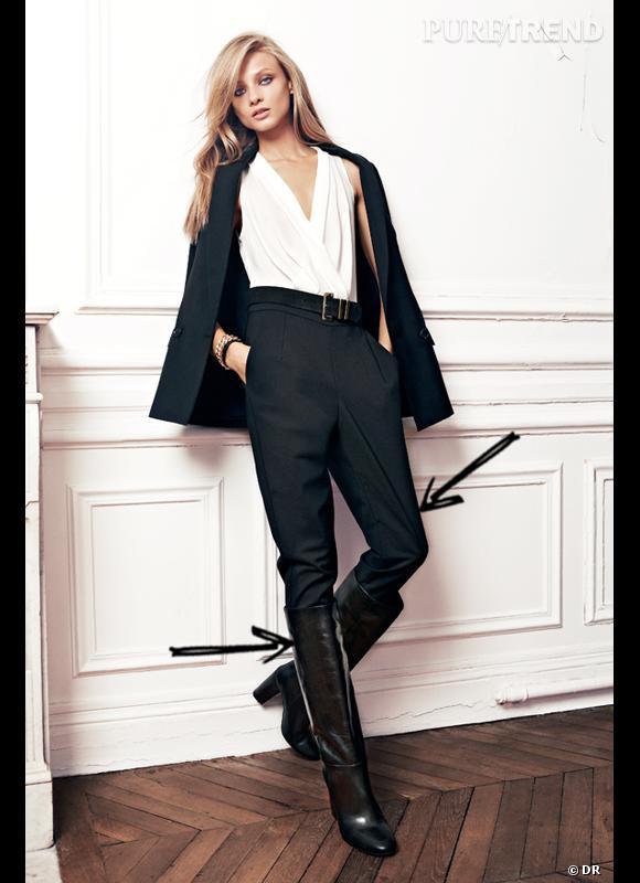 comment porter les bottes cet hiver comme chez mango on glisse son pantalon dans ses bottes. Black Bedroom Furniture Sets. Home Design Ideas