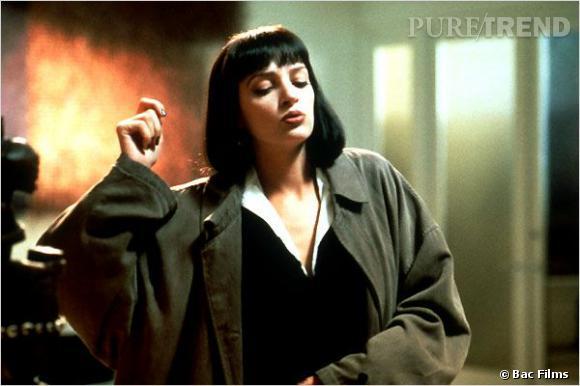 """Mais """"Pulp Fiction"""", c'est aussi le carré frangé d'Uma Turman, devenu un classique."""