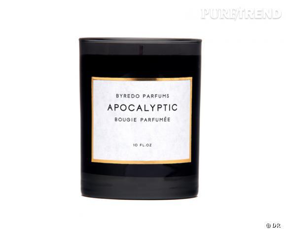 Une bougie parfumée pour Noël !       Bougie Apocalyptic, Byredo, 55 €