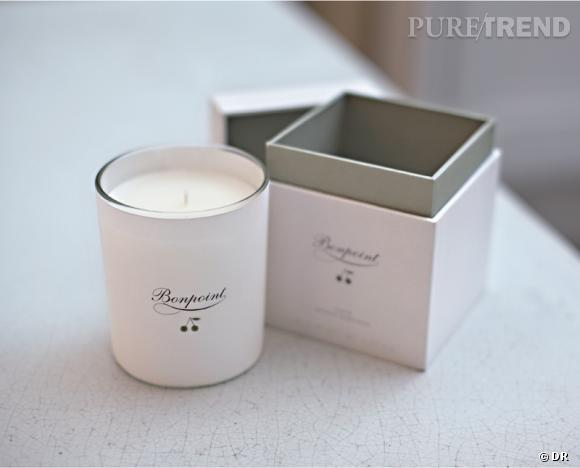 Une bougie parfumée pour Noël !       Bougie Bonpoint, 39 €