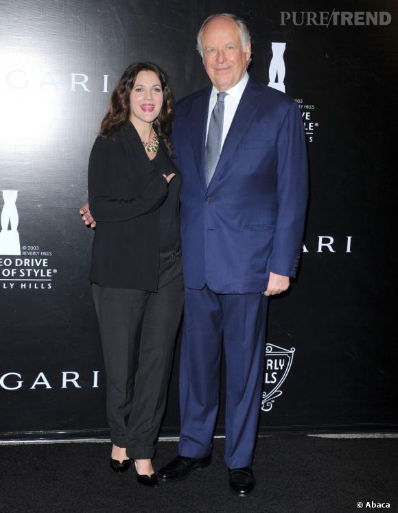 Drew Barrymore au côté de Nicola Bulgari.