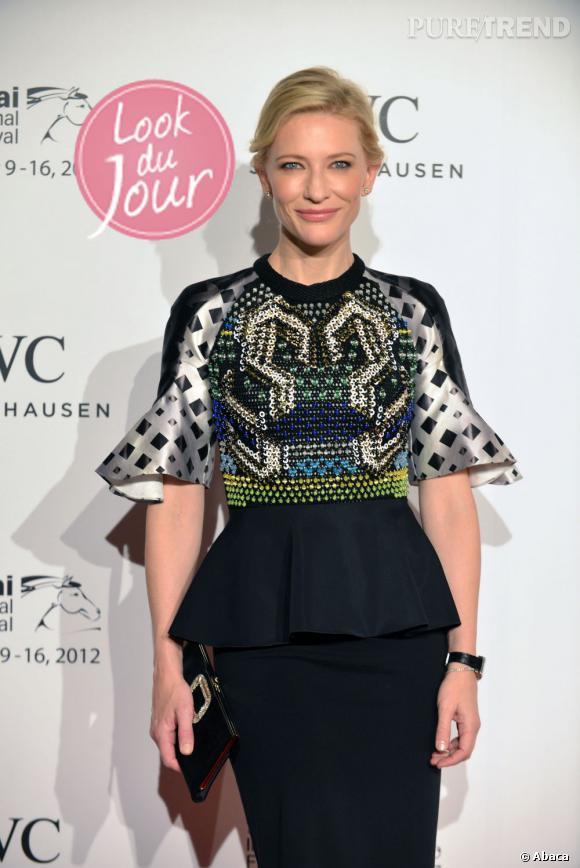 Cate Blanchett au dîner de gala de IWC watches durant le Festival International de Dubaï.