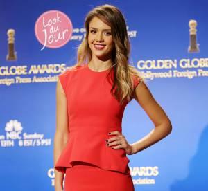 Jessica Alba : audace et couleur pour l'annonce des Golden Globes
