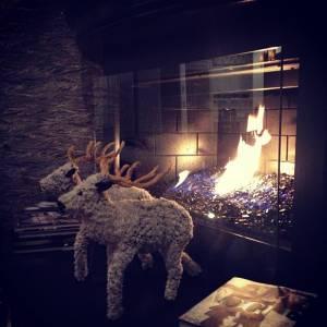 Kourtney Kardashian apprécie son joli feu de bois.