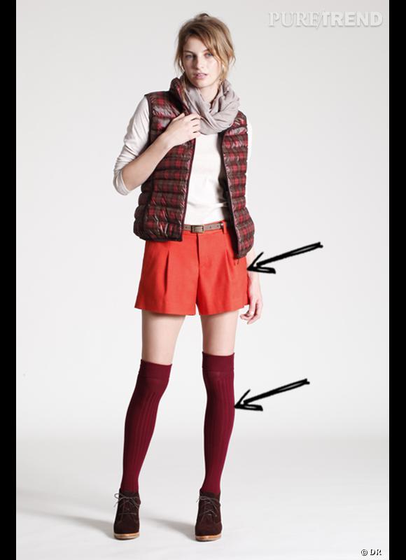 Comment porter le short cet hiver ?      Comme chez Uniqlo, on assume le short en portant ses chaussettes très hautes.      Collection Automne-Hiver 2012/2013