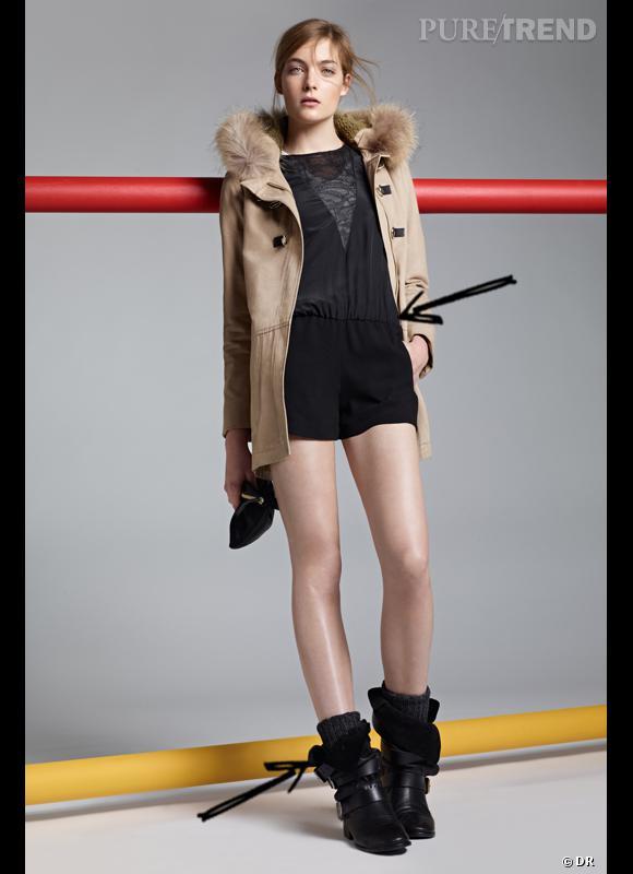 Comment porter le short cet hiver ?      Comme chez Maje, on ose le combishort délicat.      Collection Automne-Hiver 2012/2013