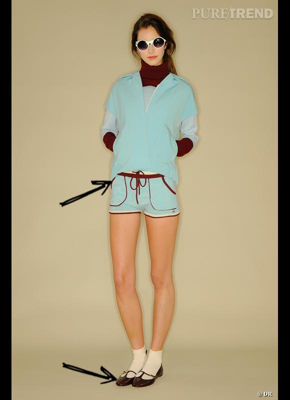 Comment porter le short cet hiver ?      Comme chez Mademoiselle Tara, on ose décliner la tendance sporty même en short.      Collection Automne-Hiver 2012/2013