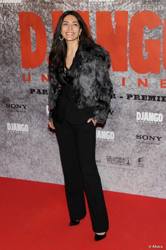 """Catherina Murino à l'avant-première de """"Django Unchained"""" à Paris."""