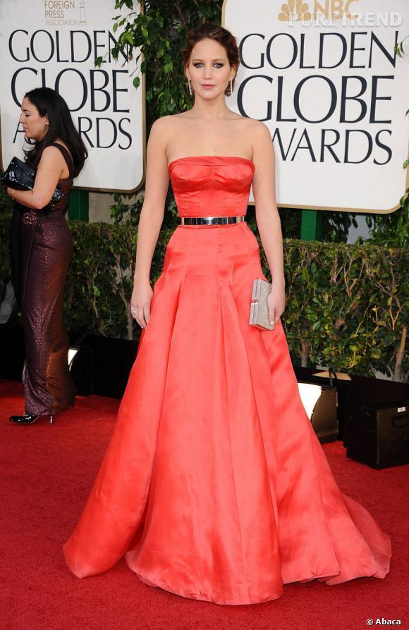 Jennifer Lawrence, célibataire aux Golden Globes.