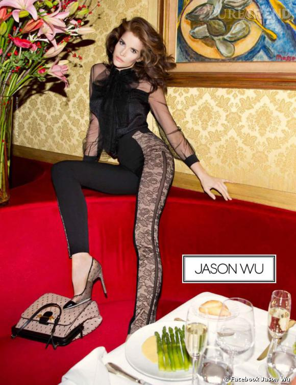 Campagne Jason Wu Printemps-Été 2013 avec le top Stephanie Seymour .
