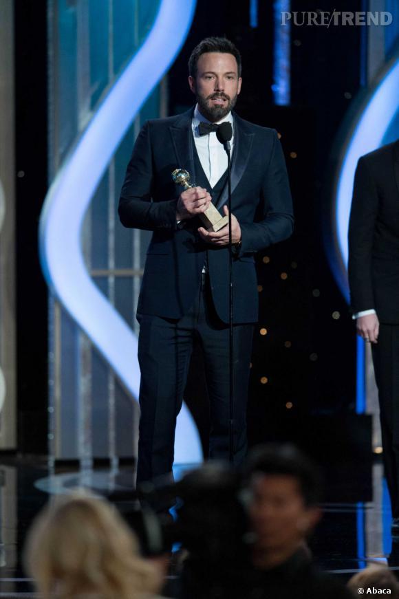 Pendant son discours, Ben Affleck a longuement remercié sa femme.