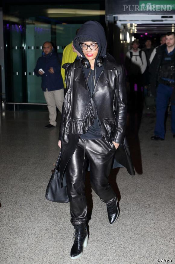 Rita Ora à l'aéroport d'Heathrow le 15 janvier 2013.