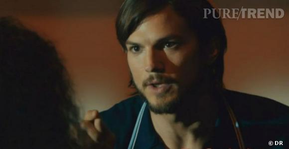 Ashton Kutcher incarne Steve Jobs dans le film qui retrace sa vie, en salles en avril aux États-Unis.