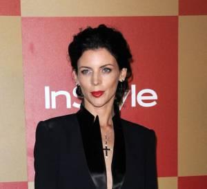 Liberty Ross, actrice et mannequin anglaise, poursuit son chemin. Ici, elle paraît rayonnante à la soirée des Golden Globes.