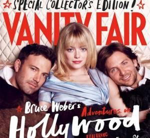 Ben Affleck, Emma Stone et Bradley Cooper : trio de charme, au lit pour Vanity Fair