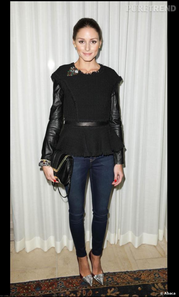 Olivia Palermo à la présentation de la collection de sacs Yliana Yepez Automne-Hiver 2013 à New York.