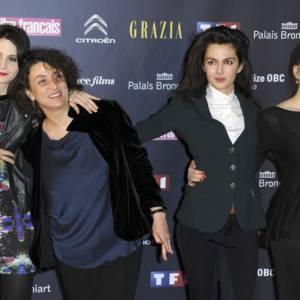 Judith Chemla, Noemie Lvovsky, Julia Faure et India Hair aux Trophées du film français.