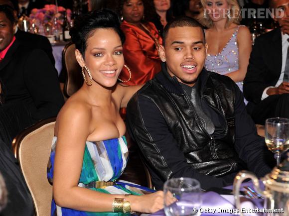 Rihanna et Chris Brown lors de la soirée pré-Grammy Awards 2009 quelques heures avant leur dispute.