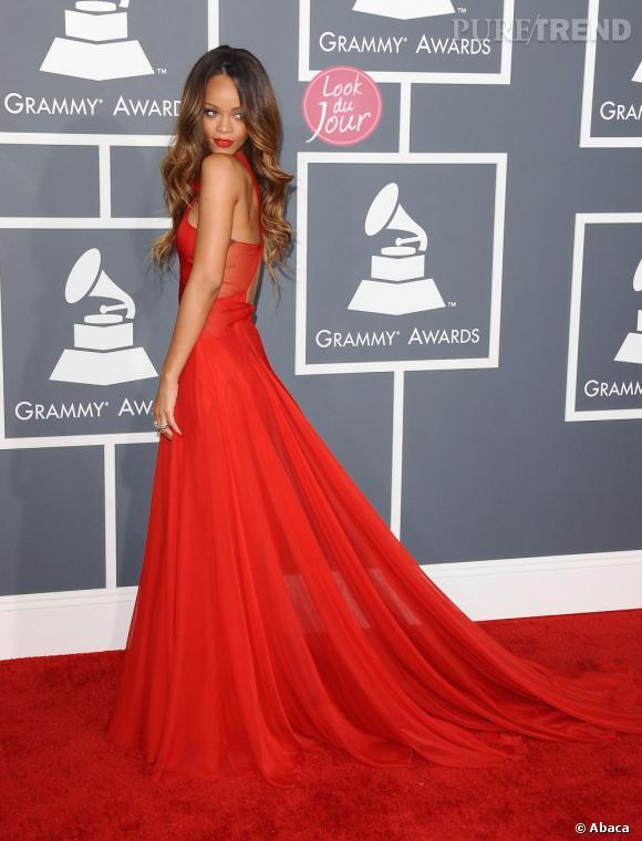 Rihanna aux Grammy Awards 2013 à Los Angeles.