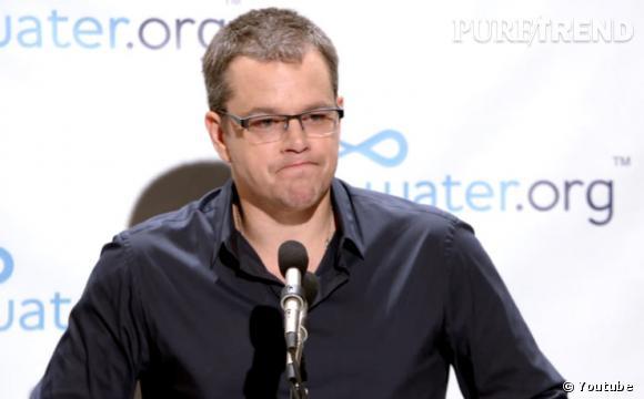 Matt Damon, co-fondateur de water.org, est bien décidé à mobiliser les gens face au problème du manque d'eau propre et d'installations sanitaires dans la monde.